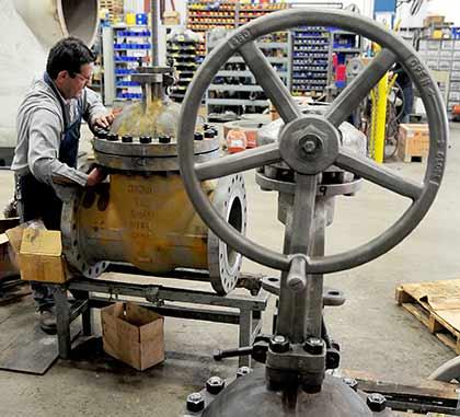 Assembling gate valve